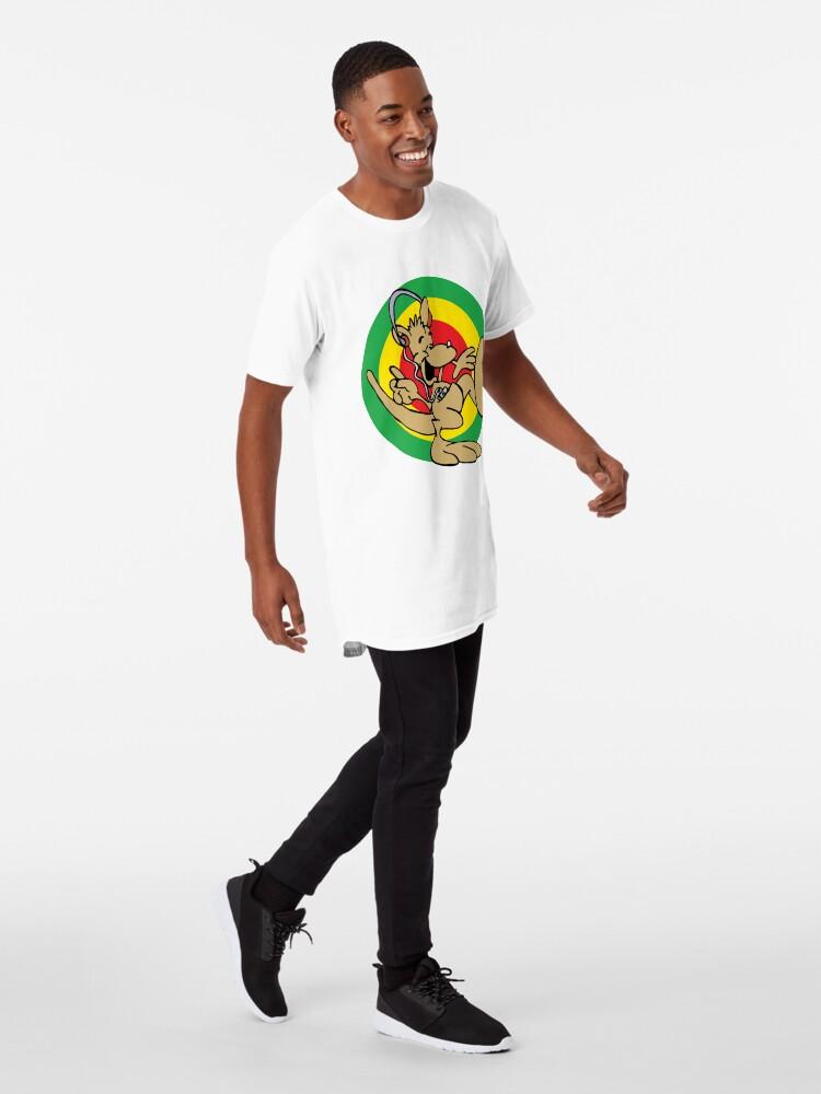 Alternate view of Dancehall Reggae Australia Kangaroo Long T-Shirt
