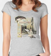 HOOKERS BAR AND GRILL Women's Fitted Scoop T-Shirt