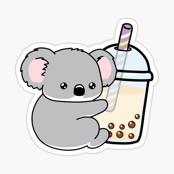 Little Koala Loves Boba! Sticker