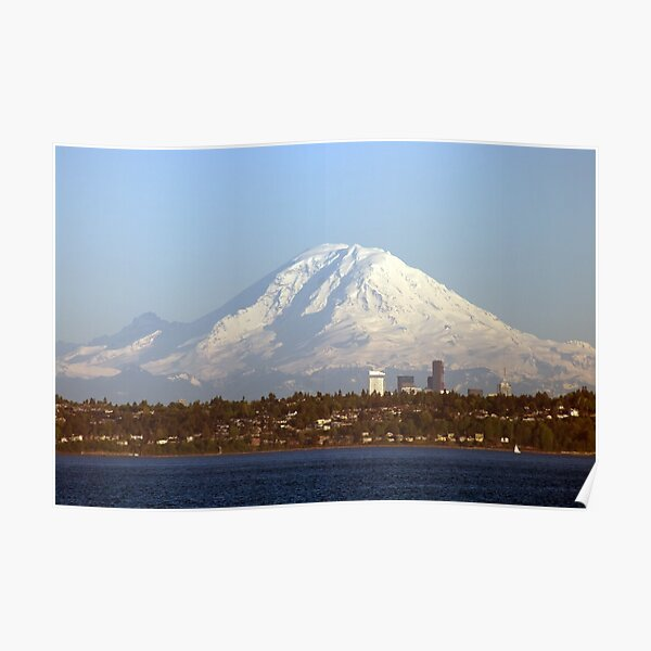 Mount Rainier From The Edmonds Ferry. Poster