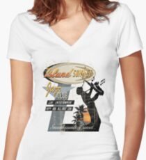 SUNSET JAZZ Women's Fitted V-Neck T-Shirt
