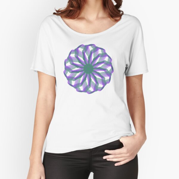 Spirograph with green and violet Relaxed Fit T-Shirt