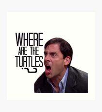 Michael Scott - Where Are the Turtles? Art Print