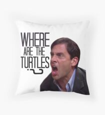Michael Scott - Where Are the Turtles? Throw Pillow