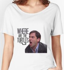 Michael Scott - Where Are the Turtles? Women's Relaxed Fit T-Shirt