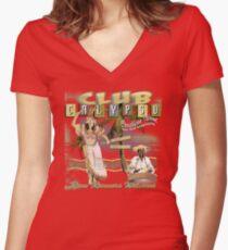 CLUB CALYPSO Women's Fitted V-Neck T-Shirt