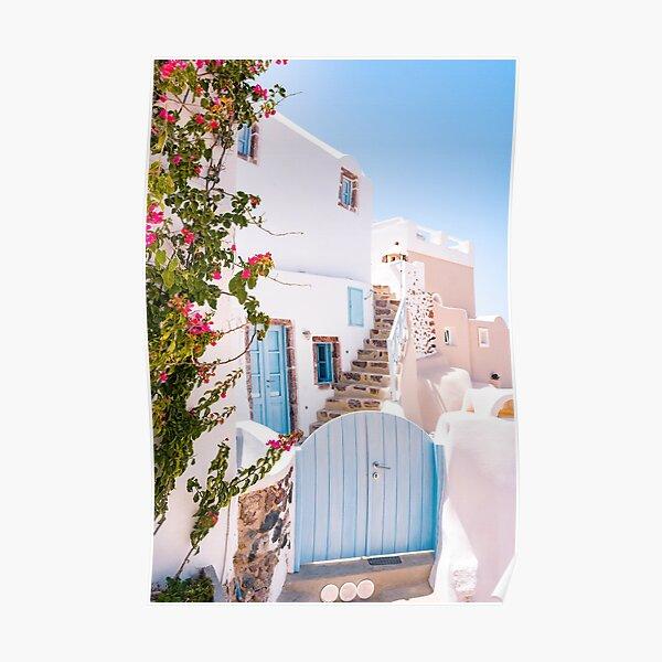 Santorini Greece Wall Art Poster