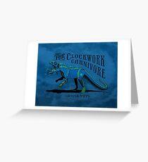 Clockwork Carnivore (Blue EUPARKERIA-TYPE) Greeting Card