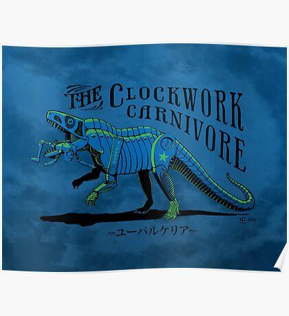 Clockwork Carnivore (Blue EUPARKERIA-TYPE) Poster