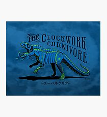 Clockwork Carnivore (Blue EUPARKERIA-TYPE) Photographic Print