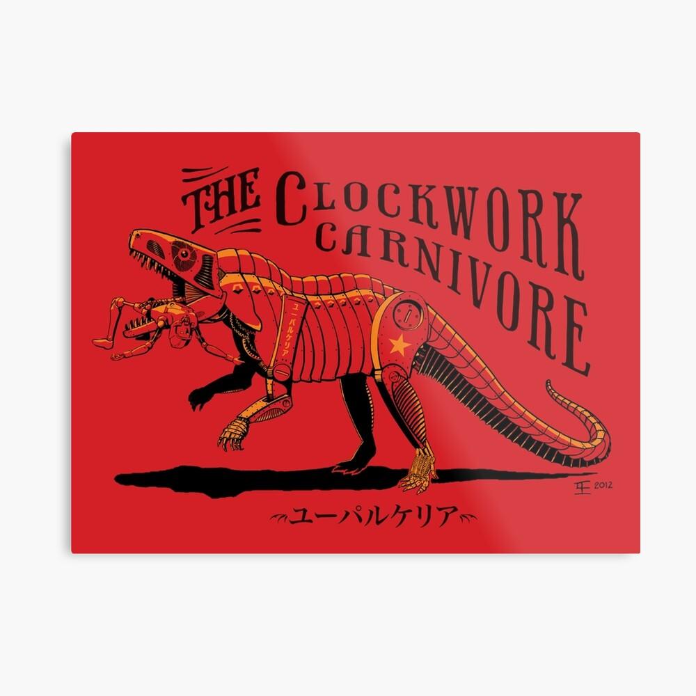 Clockwork Carnivore (Red EUPARKERIA-TYPE) Metal Print