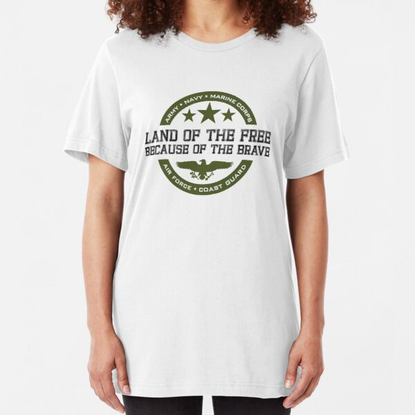 Land of the Free Slim Fit T-Shirt