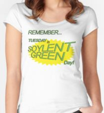 Soylent Green Day Women's Fitted Scoop T-Shirt