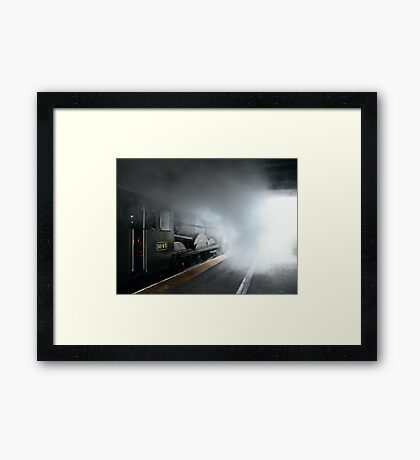Steaming Out Framed Print