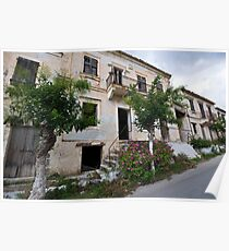 Empty House in Asos, Kefalonia Poster