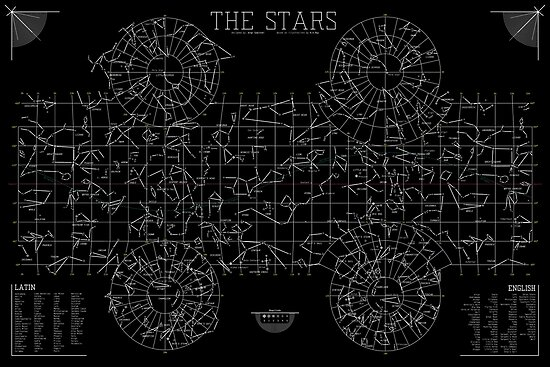 The Stars: A Constellation Map by ArgoVector