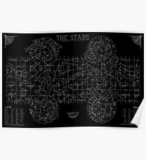 The Stars: A Constellation Map Poster