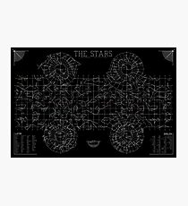 The Stars: A Constellation Map Photographic Print