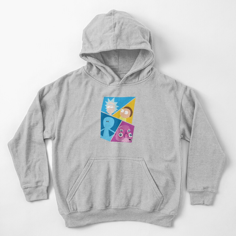 Rick and Morty Characters Kids Pullover Hoodie