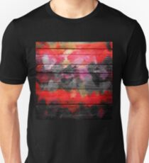 Abstract Color Paint Brush Wood Look T-Shirt