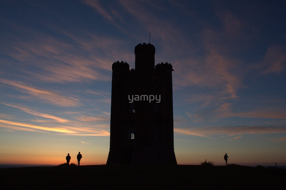 tower ing high at sun set by yampy