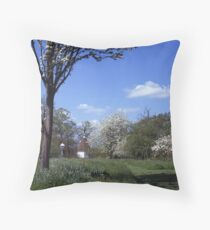An English Country Garden Throw Pillow
