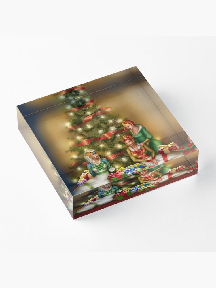 Alternate view of Christmas Princess Presents Acrylic Block