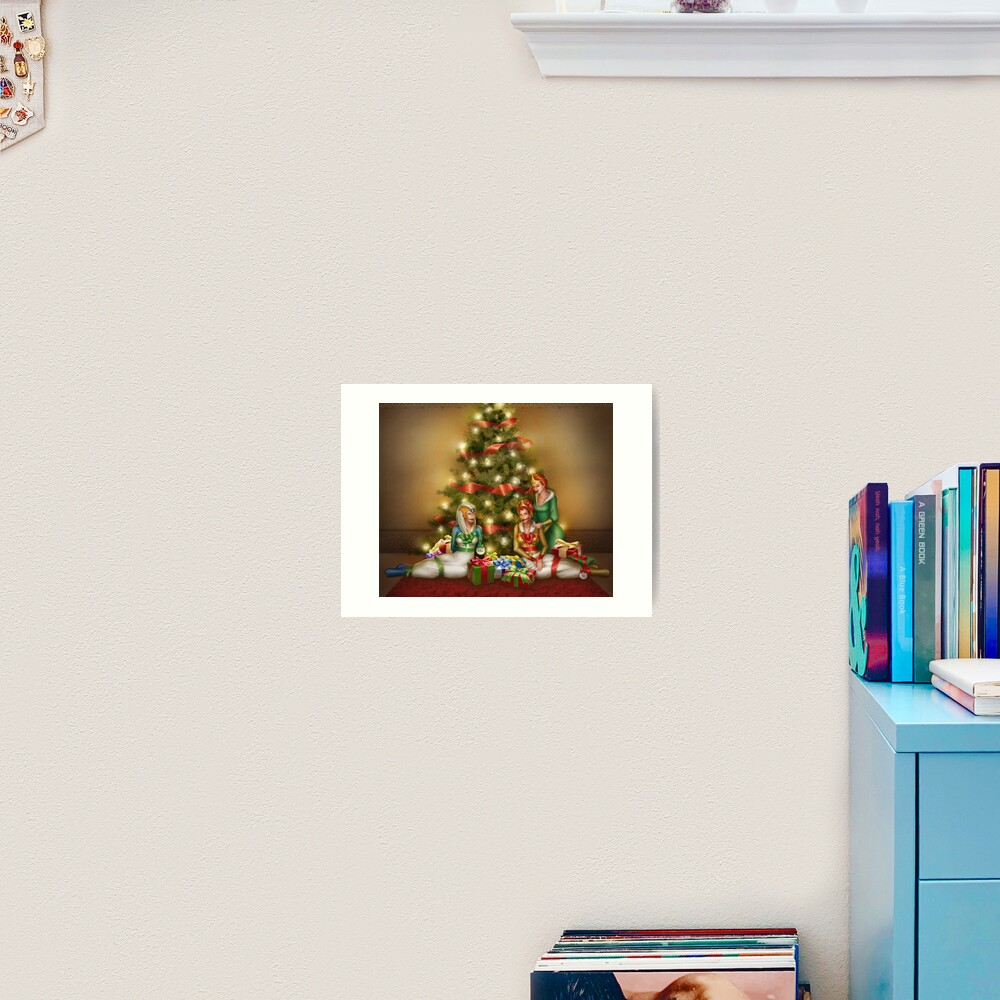 Christmas Princess Presents Art Print