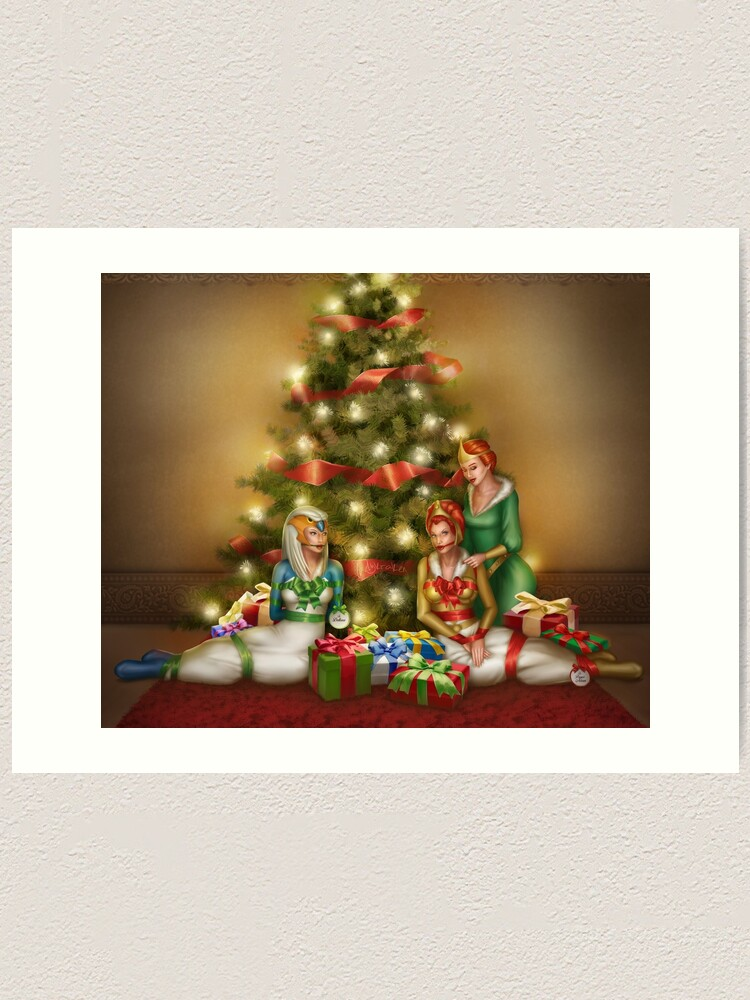 Alternate view of Christmas Princess Presents Art Print