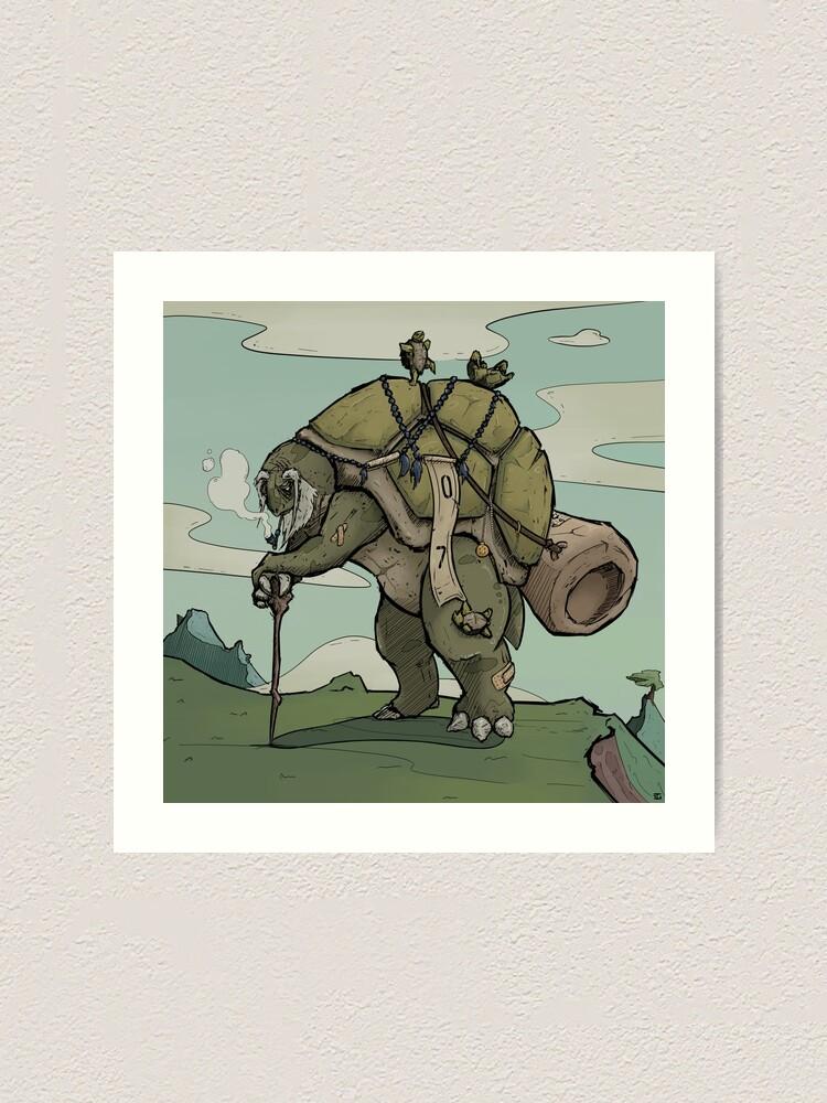 Alternate view of Backpacker Art Print