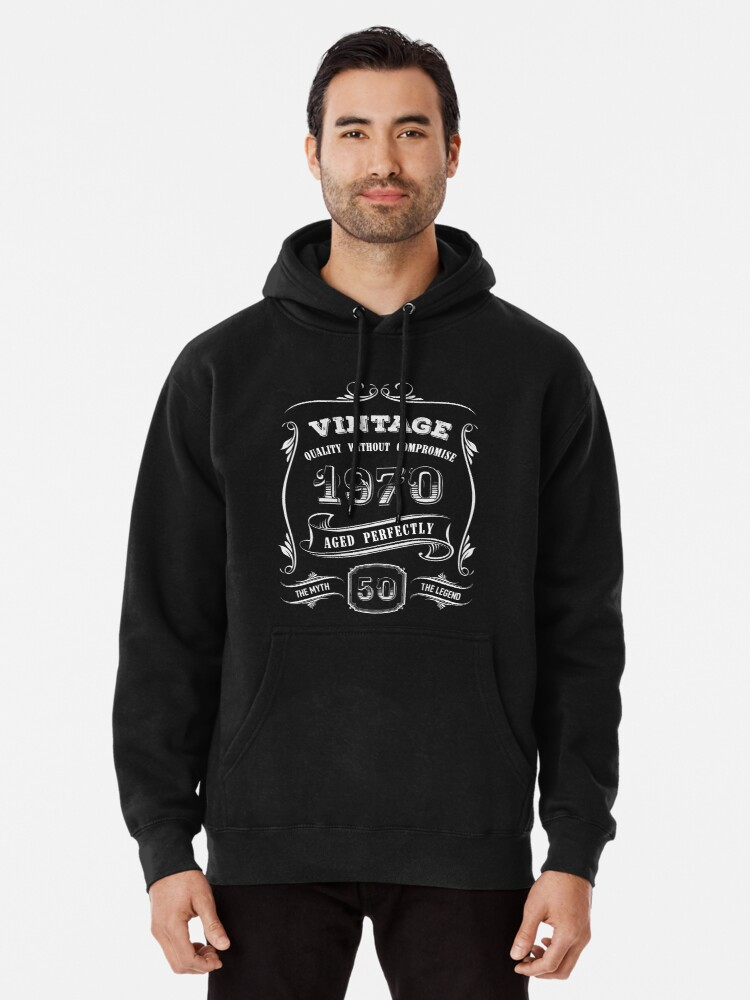 50th Birthday Hoodie Made in 1970 50 Years Of Awesome Retro Gift Idea