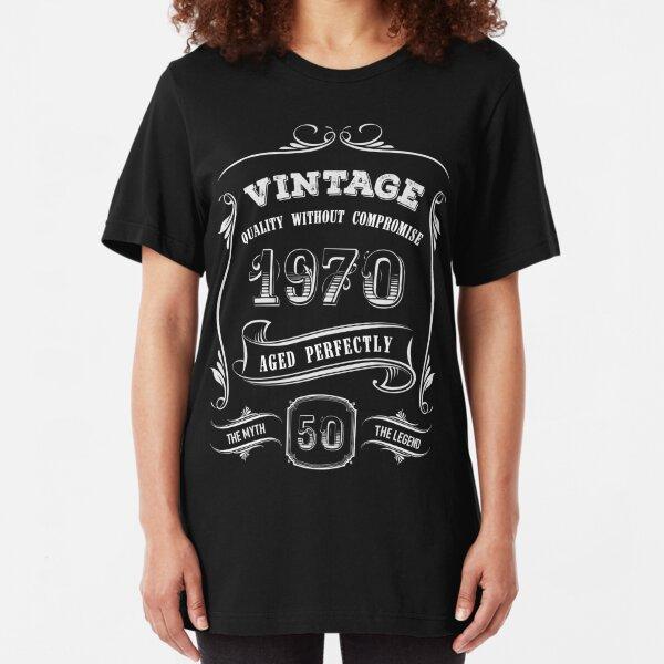 Vintage 1970 - 50th Birthday Gift Idea Slim Fit T-Shirt