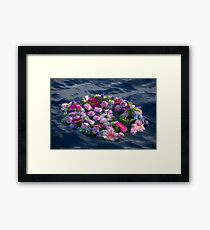Flower crown on the sea! Framed Print