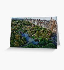 CENTRAL PARK RIGHT BANK Greeting Card