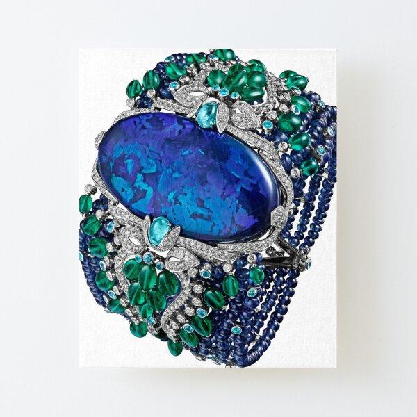 HIGH JEWELRY BRACELET ... Platinum, opal, sapphires, emeralds, Paraiba tourmalines Canvas Mounted Print