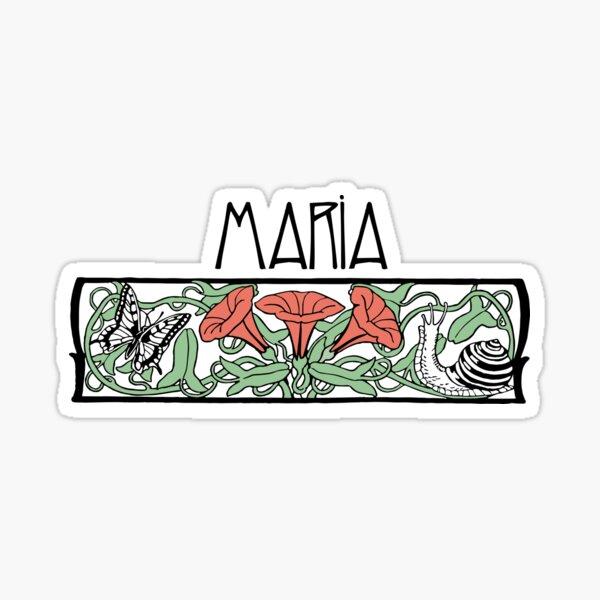 Art Nouveau Maria Sticker