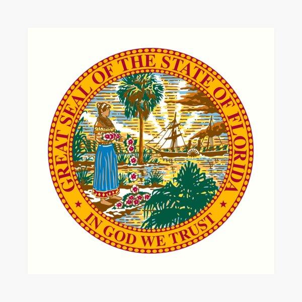 Florida Great Seal Art Print