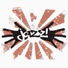 Jazz Hands - Orange and Black by LTDesignStudio