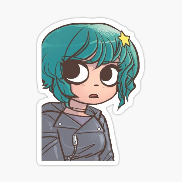 Ramona Flowers - blue Sticker
