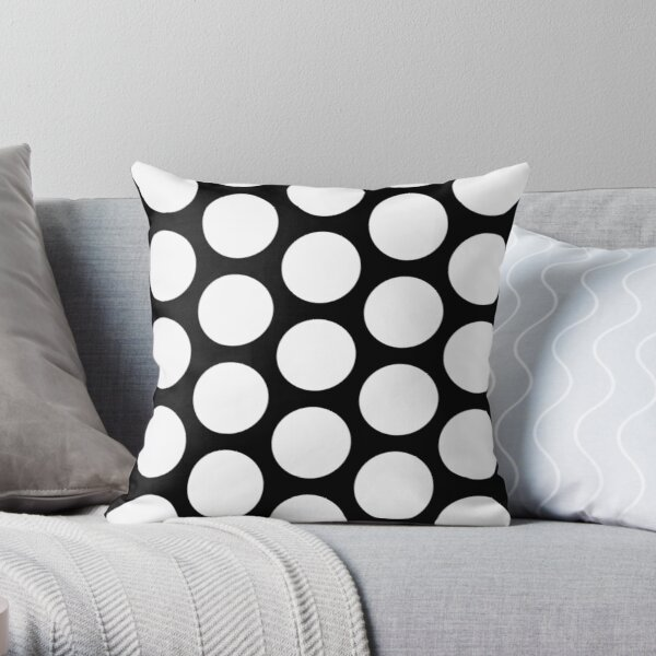 Schematic of a 2D photonic crystal made of circular holes Throw Pillow