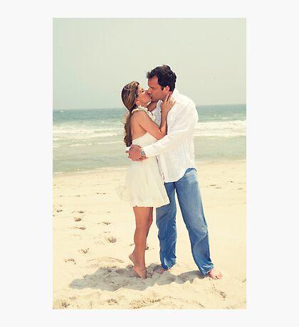 Casual Beach Wedding Photographic Print