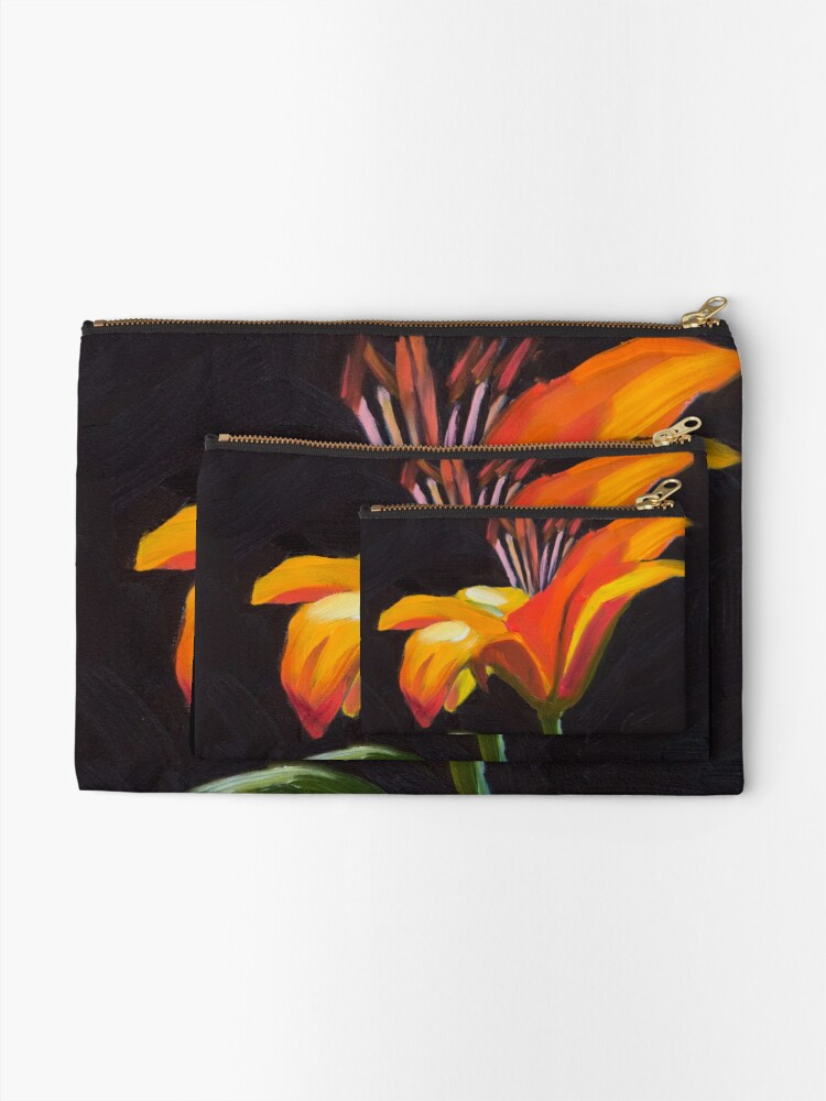 Alternate view of Frilly Lily Zipper Pouch