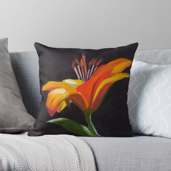 Frilly Lily Throw Pillow
