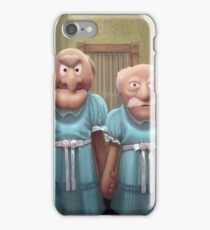 Muppet Maniac - Statler & Waldorf as the Grady Twins iPhone Case/Skin