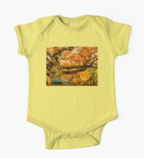 Colorful Old Oak Tree One Piece - Short Sleeve