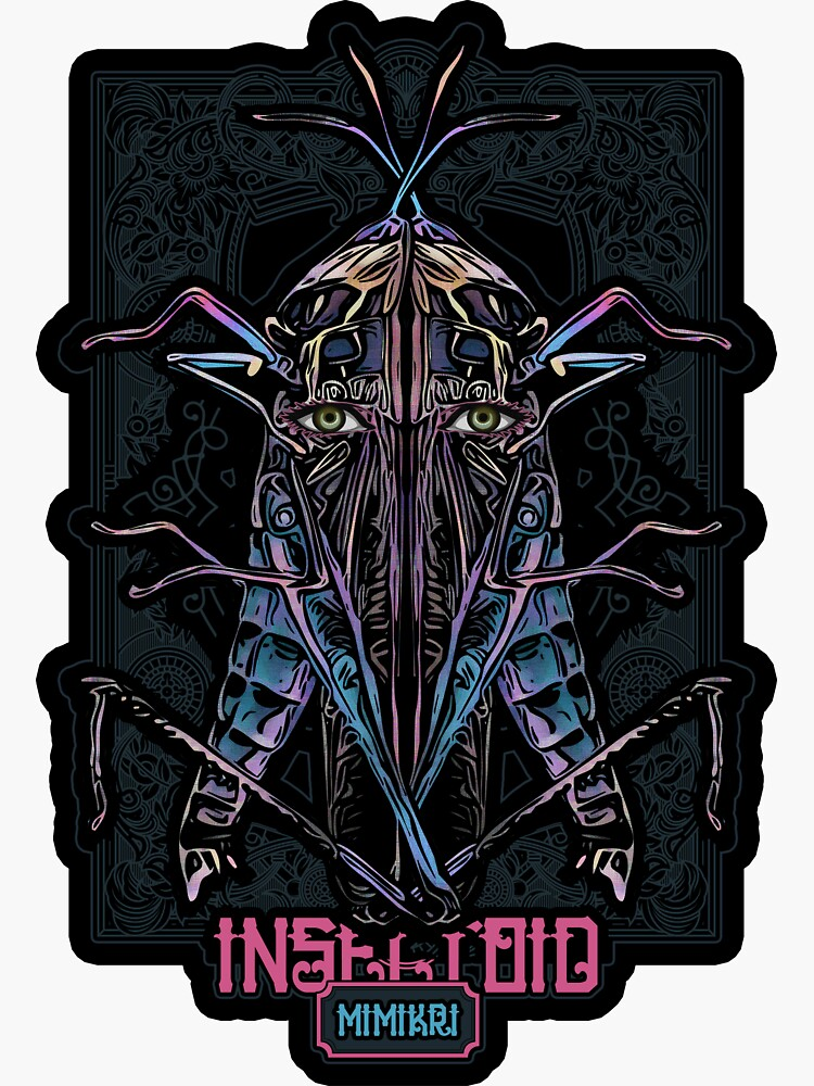 INSECTOID III - MIMIKRI 09 2018 Color 02 - Sticker (Insect Horror Graphic Design Digital Art) von nenART-Official