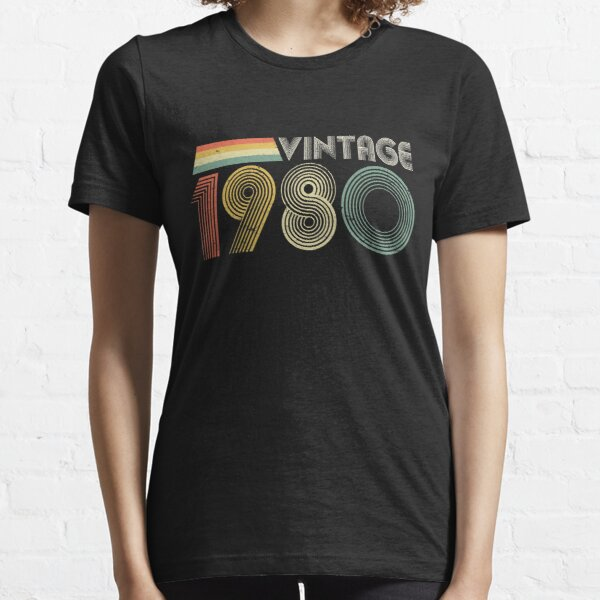 Vintage 1980, 40th Birthday Gift Essential T-Shirt