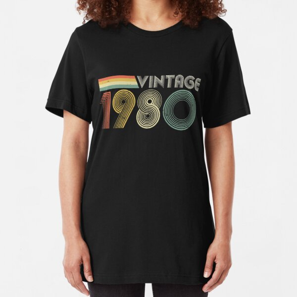 Vintage 1980, 40th Birthday Gift Slim Fit T-Shirt