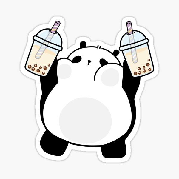 Chubby Little Panda Loves Boba! Sticker