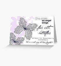 She Soars On Angel Wings Greeting Card